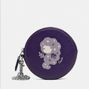 Brand new Virgo coach coin purse and gift wrap